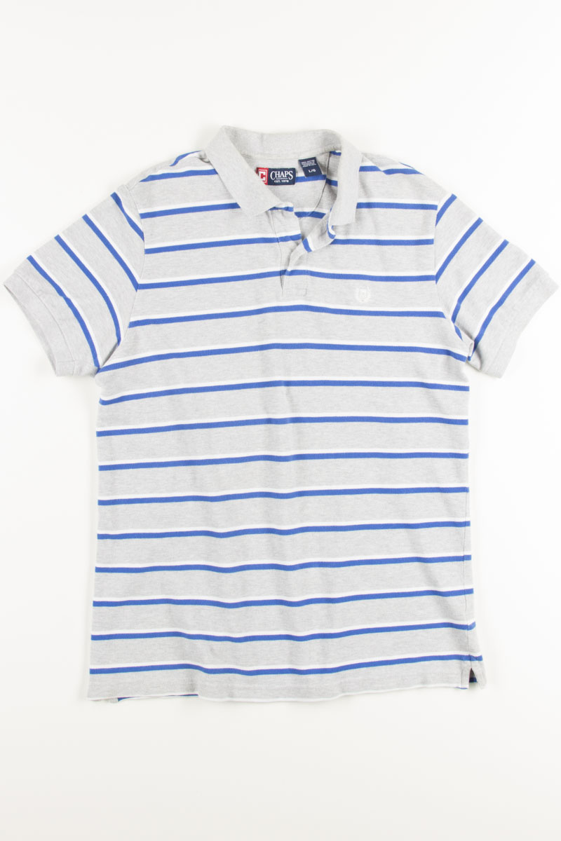 5a1aa2650d Blue Striped Chaps Polo Shirt - Ragstock
