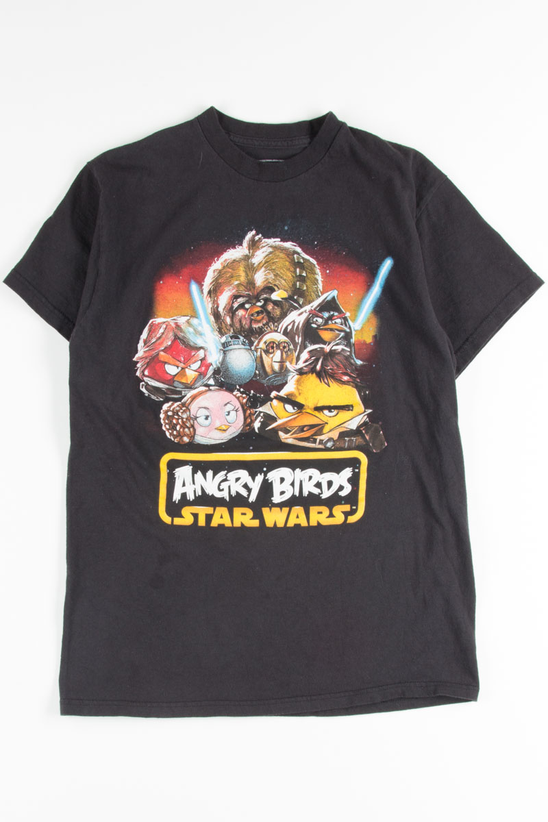 Men/'s Angry Birds Star Wars Unisex T Shirts