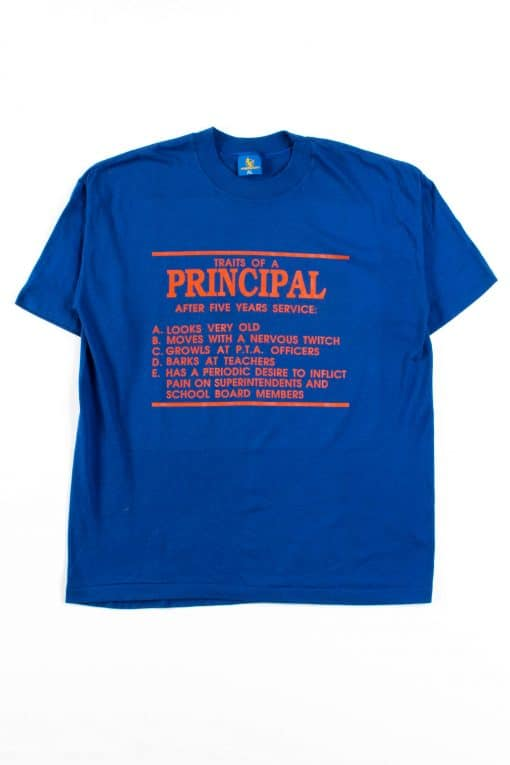 Traits Of A Principal T-Shirt (Single Stitch)