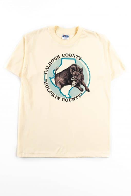 Calhoun County Hogskin County T-Shirt (Single Stitch)