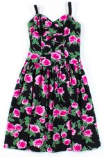 Pink Rose Bow Front Dress