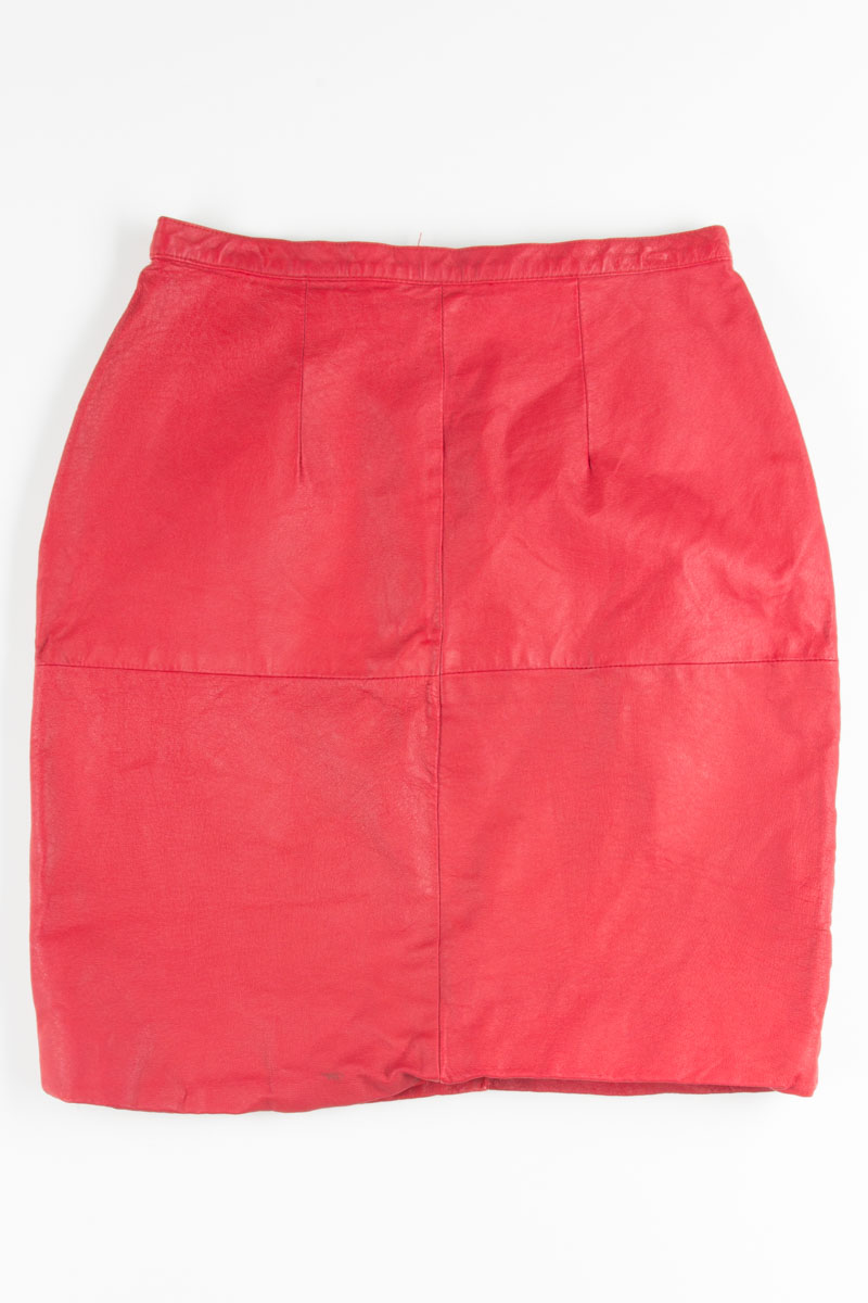 066a8c000c ... Clothing / Vintage Skirts / Red Leather Pencil Skirt. 1