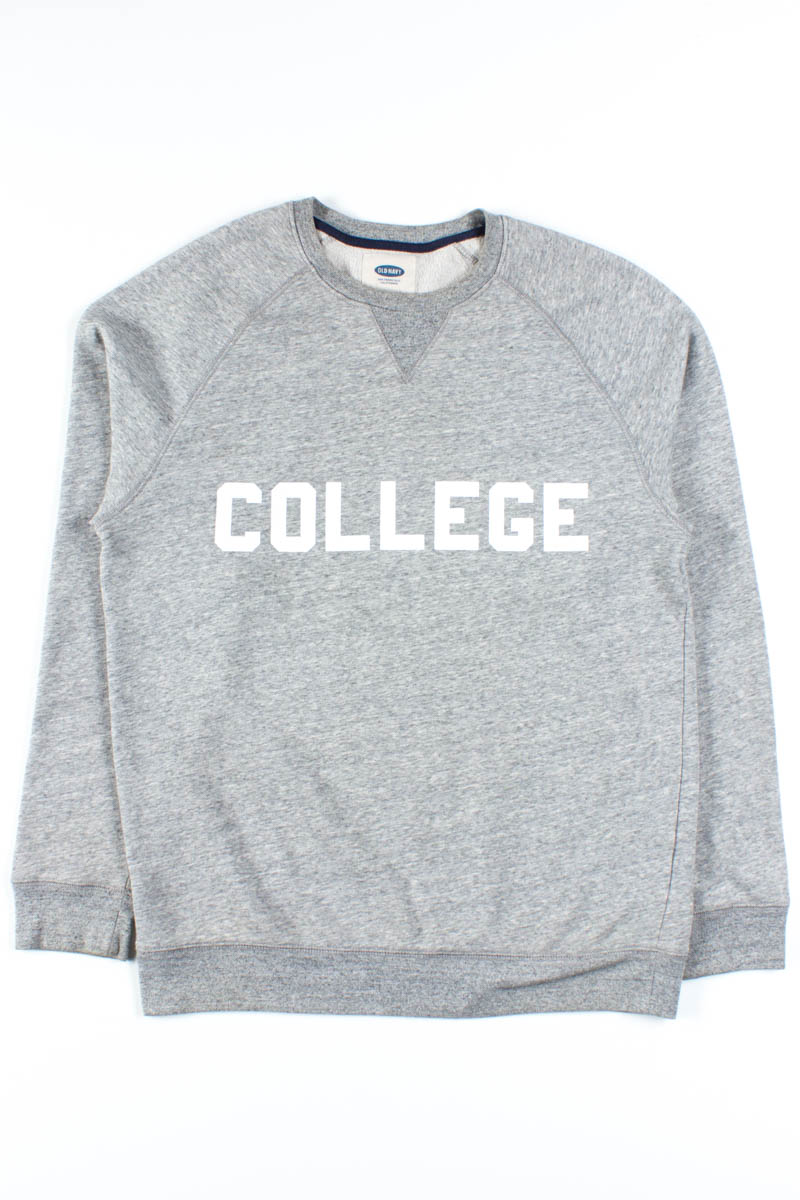 Heather Grey College Sweatshirt