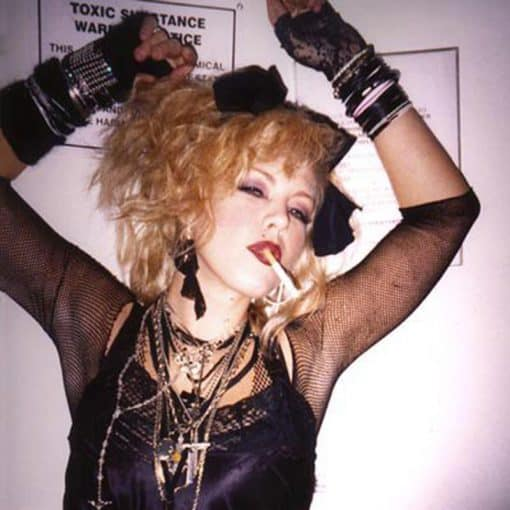 Vintage top in 1980s on Madonna lookalike